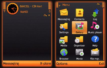 Download grátis o tema Black & Orange by NaHiD.